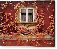 Fall Window,prague Acrylic Print