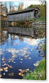 Fallasburg Covered Bridge 16 Acrylic Print by Terri Gostola