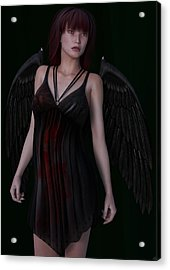 Fallen Angel Acrylic Print by Maynard Ellis