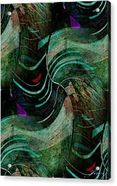 Acrylic Print featuring the digital art Fallen Angle by Sheila Mcdonald