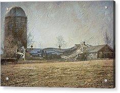 Fallen Barn  Acrylic Print