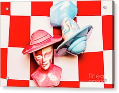Fallen King And Queen On Chess Board Acrylic Print by Jorgo Photography - Wall Art Gallery
