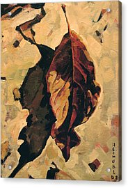 Acrylic Print featuring the painting Fallen Leaf by Tim  Heimdal