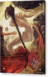 Fallen Queen IIi - Grudge Acrylic Print by Alejandro Dini