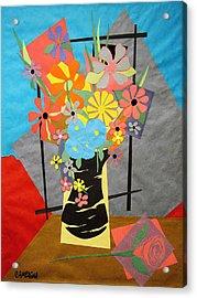 Fallen Rose     Acrylic Print by Teddy Campagna