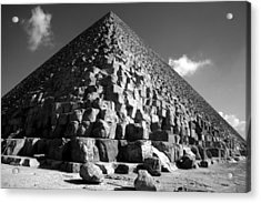 Fallen Stones At The Pyramid Acrylic Print