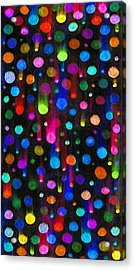 Falling Balls Of Color Acrylic Print by Carl Deaville