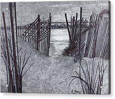 Falling Fence Acrylic Print