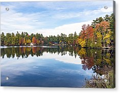 Acrylic Print featuring the photograph Falling For New Hampshire by Anthony Baatz