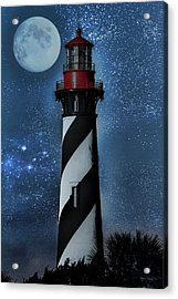 Falling For You St Augustine Lighthouse Acrylic Print by Betsy Knapp