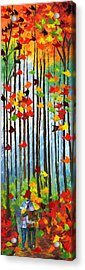 Falling In Love Acrylic Print by Ash Hussein