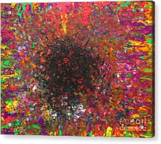 Acrylic Print featuring the painting Falling by Jacqueline Athmann