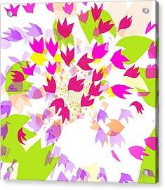 Acrylic Print featuring the digital art Falling Leaves by Barbara Moignard