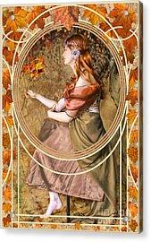 Falling Leaves Acrylic Print by John Edwards