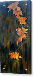 Falling Leaves Acrylic Print by Marti Idlet