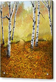 Acrylic Print featuring the painting Falling Leaves by Sena Wilson
