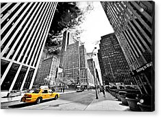 Falling Lines - Rockefeller Center Acrylic Print by Thomas Splietker