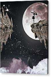 Falling Acrylic Print by Mihaela Pater