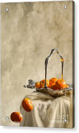 Falling Oranges Acrylic Print by Amanda Elwell