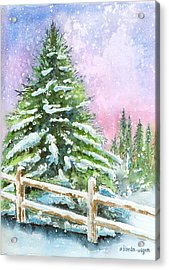 Falling Snowflakes Acrylic Print by Arline Wagner