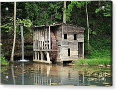 Falling Spring Mill 3 Acrylic Print by Marty Koch