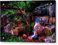 Falling Water At Honor Heights Park Acrylic Print