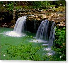 Falling Water Falls Acrylic Print by Marty Koch