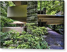 Falling Water Flw Acrylic Print by Chuck Kuhn