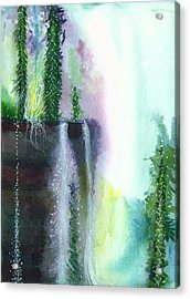 Falling Waters 1 Acrylic Print by Anil Nene