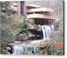 Falling Waters In November Acrylic Print by James Guentner