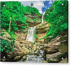 Acrylic Print featuring the photograph Falling Waters by Paula Porterfield-Izzo