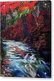Falling Waters Acrylic Print