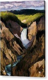 Falling Yellowstone  Iv Acrylic Print