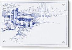 Fallingwater Blueprint Acrylic Print