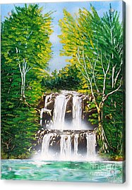 Acrylic Print featuring the painting Falls 01 by Greg Moores