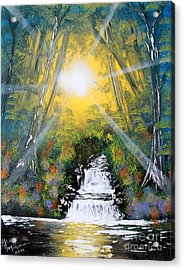 Acrylic Print featuring the painting Falls 05 by Greg Moores