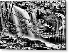 Falls And Trees Acrylic Print by Paul W Faust - Impressions of Light