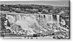 Acrylic Print featuring the photograph Falls Black And White by Traci Cottingham