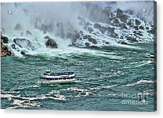 Acrylic Print featuring the photograph Falls Boat by Traci Cottingham
