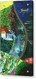 Falls, Fingers And Gorges Acrylic Print by David Ralph