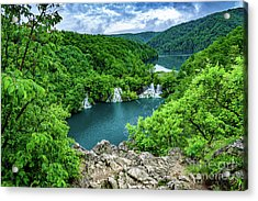 Falls From Above - Plitvice Lakes National Park, Croatia Acrylic Print