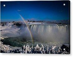 Falls Misty Rainbow  Acrylic Print