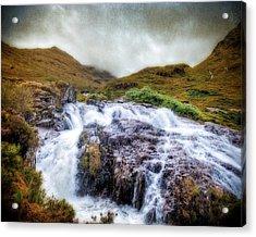 Falls Of Glencoe Acrylic Print by Ray Devlin
