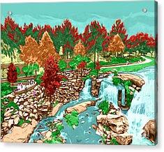Falls Park Acrylic Print by Rachelle Petersen