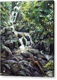 Acrylic Print featuring the painting Falls  by Paul Weerasekera