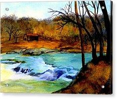 Fallsburg Ky Falls Acrylic Print by Gail Kirtz