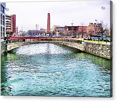 Acrylic Print featuring the photograph Fallswalk And Shot Tower by Brian Wallace