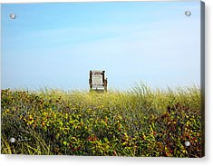 Acrylic Print featuring the photograph Falmouth Beach Open 9-5 by Madeline Ellis