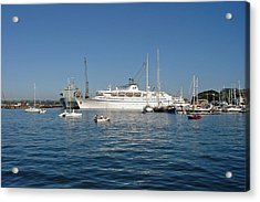 Falmouth Harbour Acrylic Print by Rod Johnson