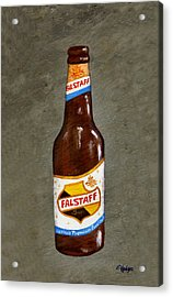 Falstaff Beer Bottle Acrylic Print by Elaine Hodges